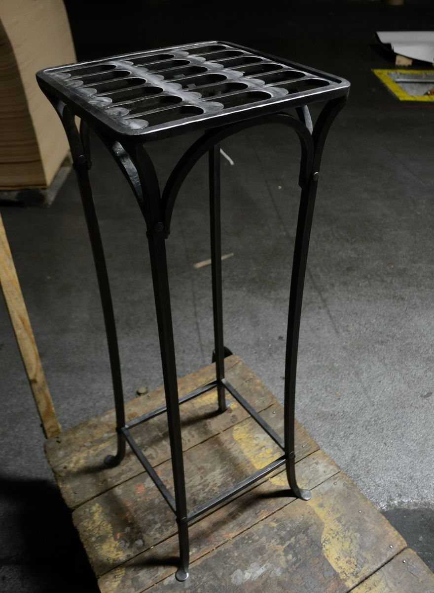 Custom Hand Forged Iron Plant Stand By Red Forgeworks