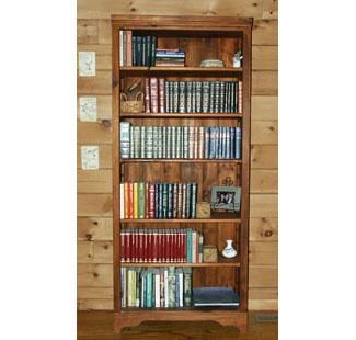 Custom Made Shaker 7' White Pine Bookcase Module