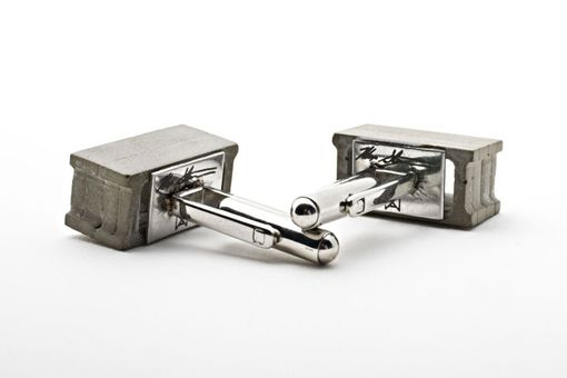 Custom Made Cinder Block Cufflinks