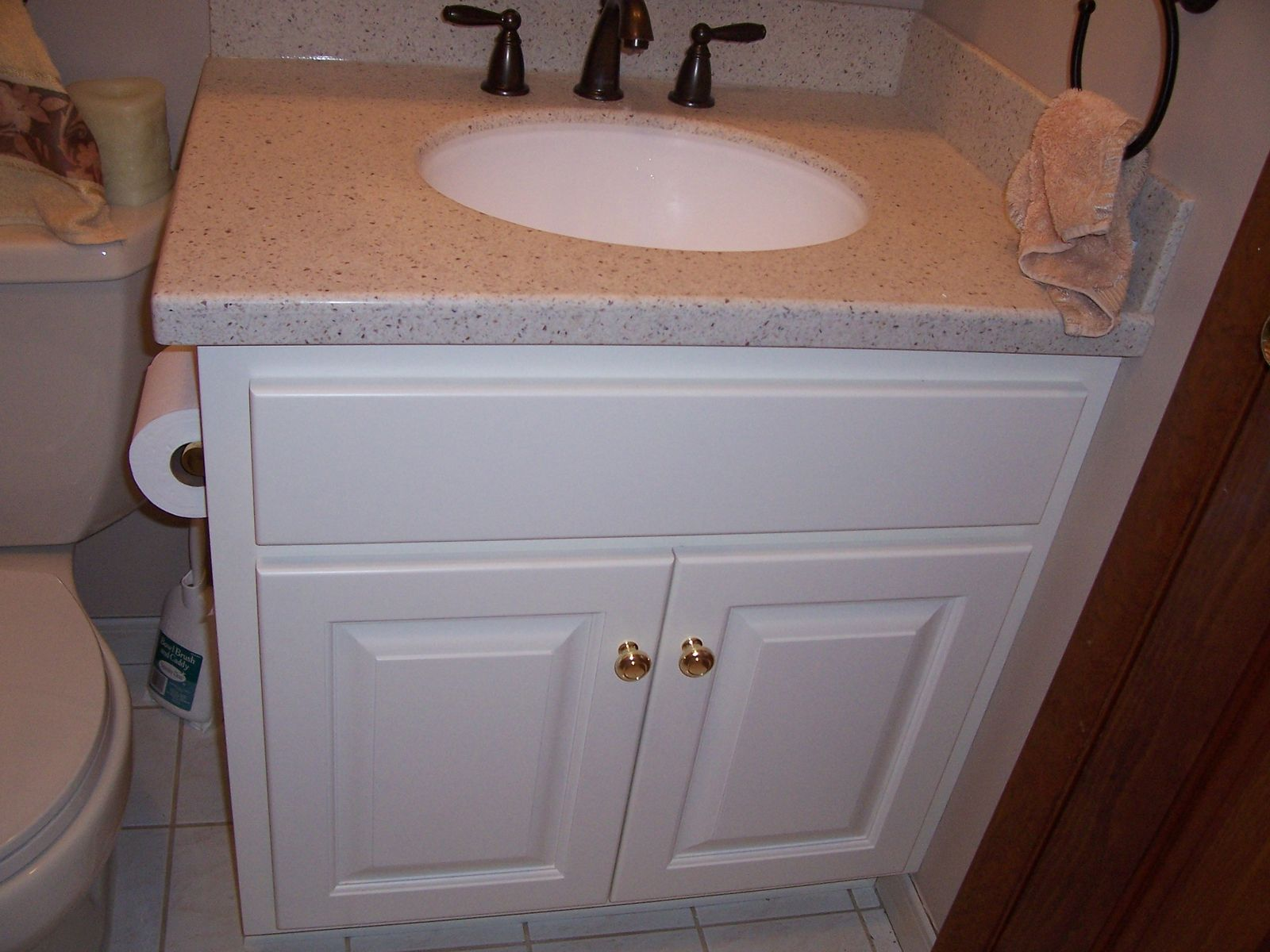Hand Crafted Custom Painted Bathroom Vanity And Top By Jeffrey William Construction Inc