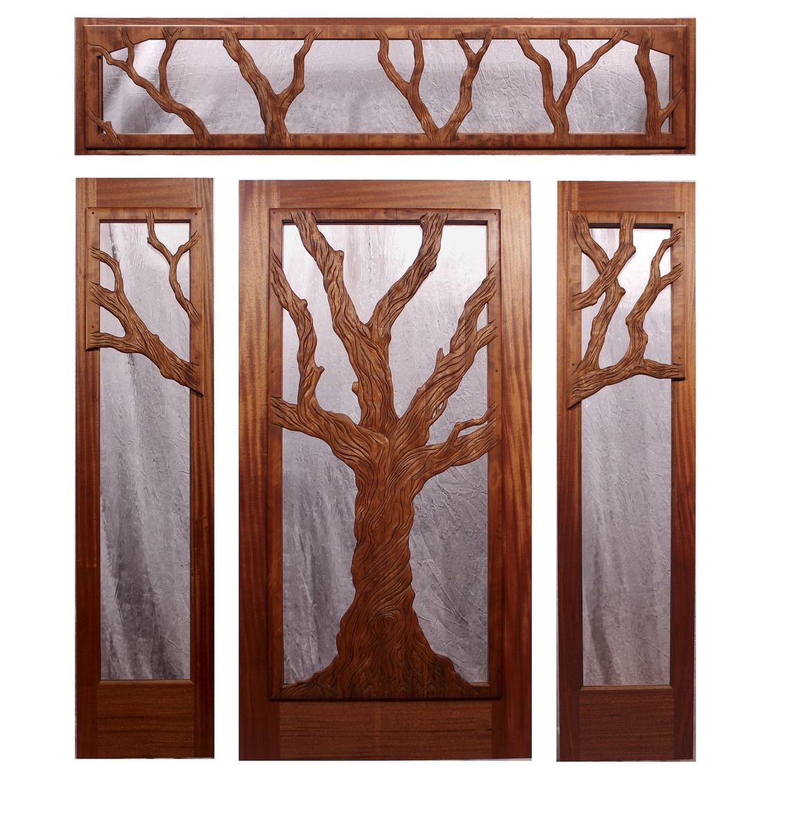 1200 #47190E Entry Door Mahogany And Redwood Hand Carved save image Custom Made Entry Doors 45471135