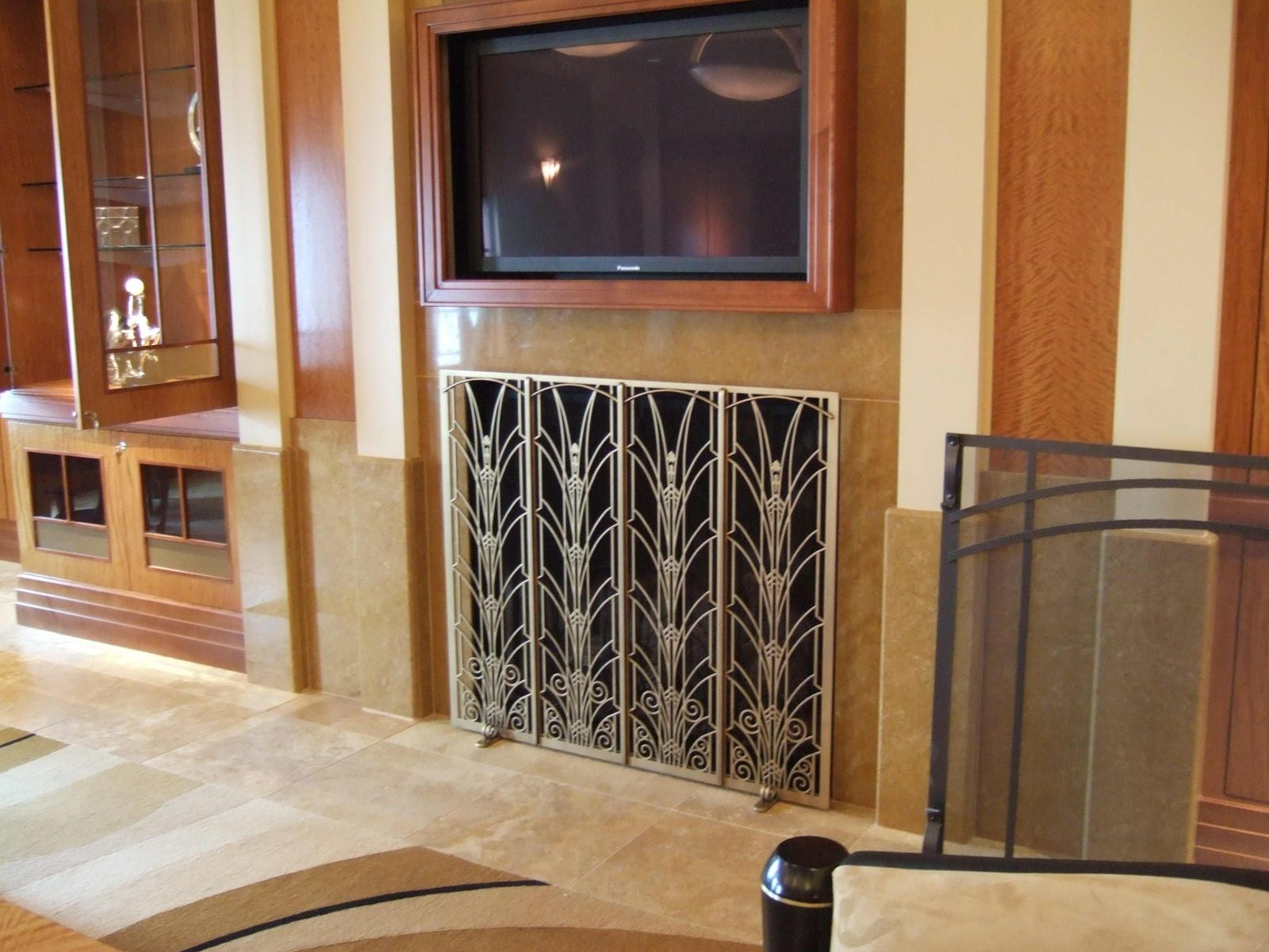 Custom Fireplace Screen By Arts Anvil Iron Work Inc