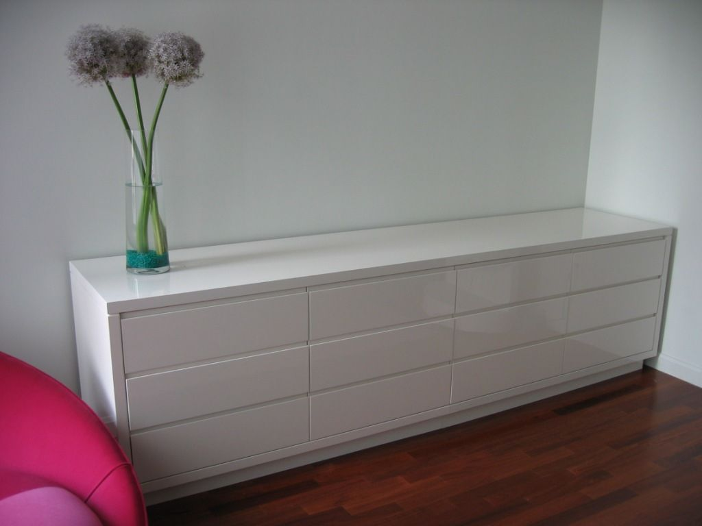 Hand crafted white lacquer dresser by ks furniture and for White lacquer bedroom furniture