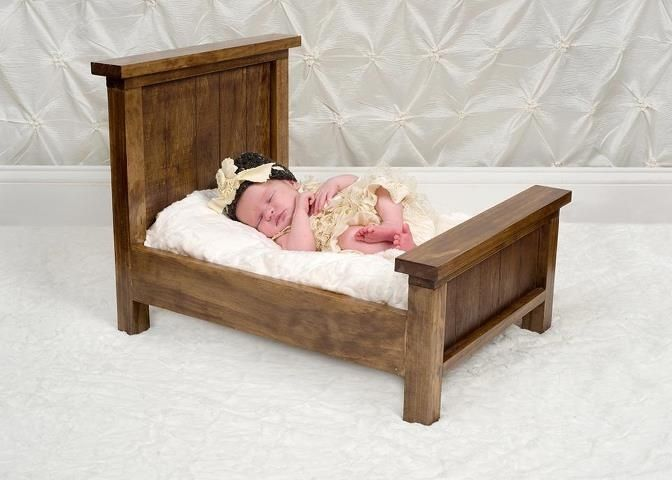 Handmade Small Baby Prop Bed By Zep S Photography Props