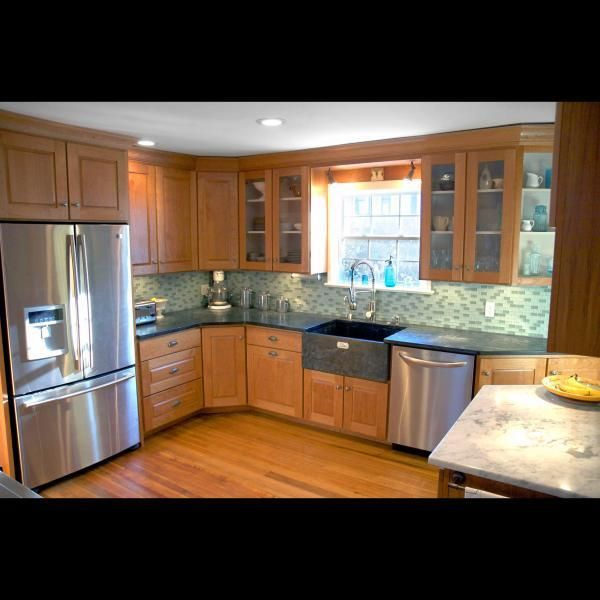 Red Cherry Kitchen Cabinets: Handmade Cherry Heartwood Kitchen (Cabinets) By Harvest