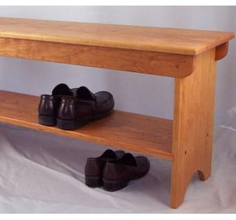 Handmade Boot And Shoe Bench By Timeless Wood Creations