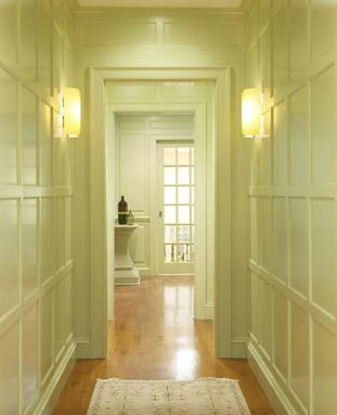 Custom Made Recessed Panel Hallway In Scarsdale, Ny