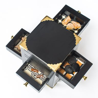 Custom Made Del Posto Restaurant Dessert Valet Boxes