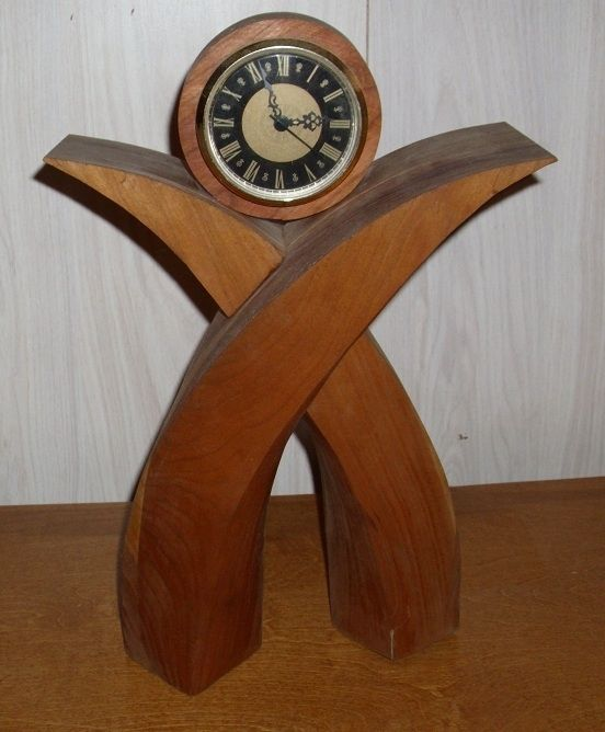 Hand made wooden desk clock by your design wood working