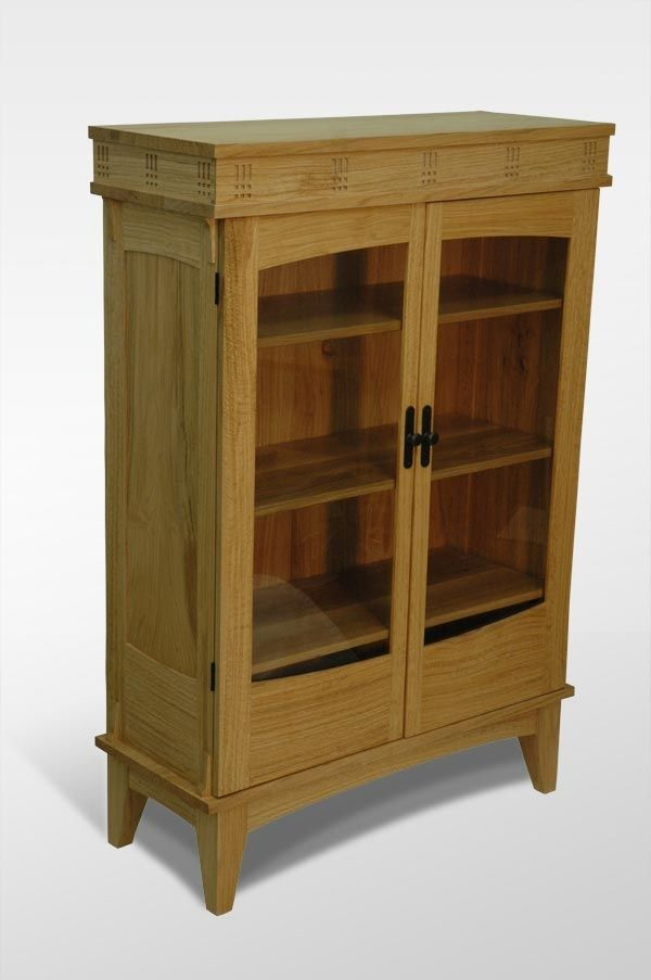 oak bookcase with glass doors images