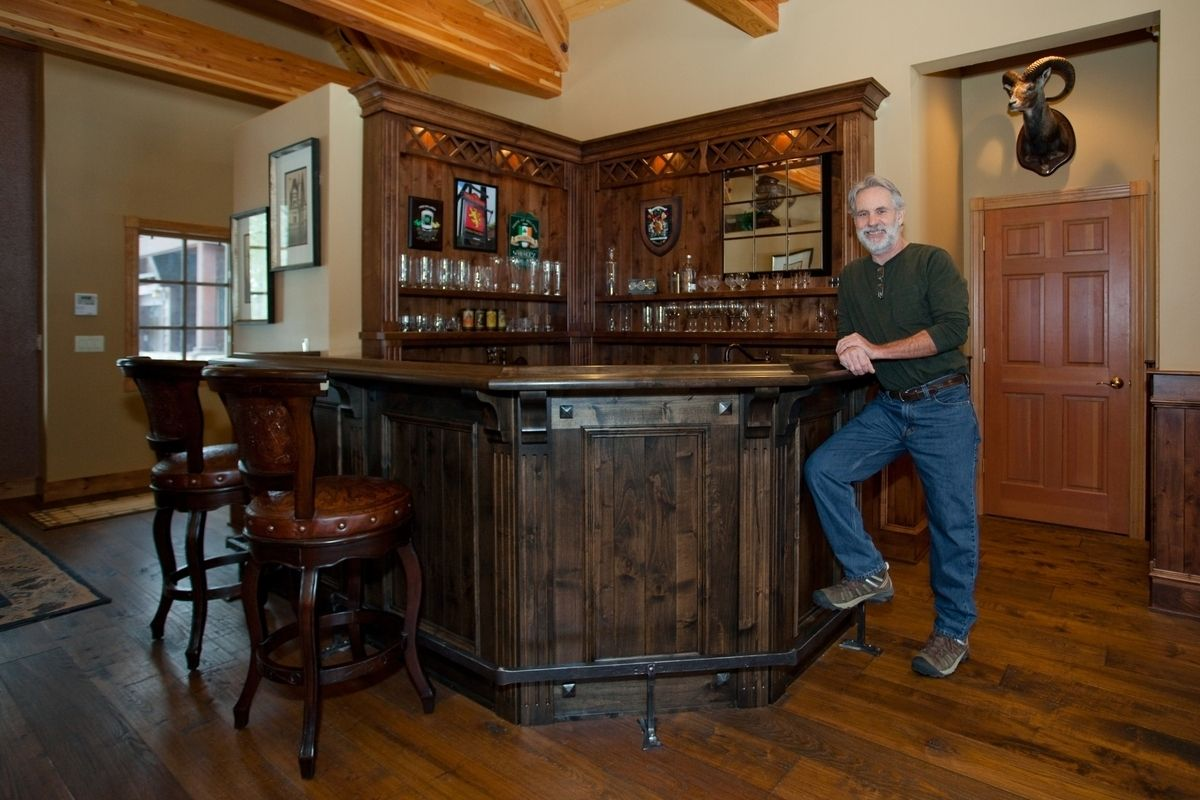 Custom scottish pub bar by dan joseph woodworks - Luxury home bar designs ...