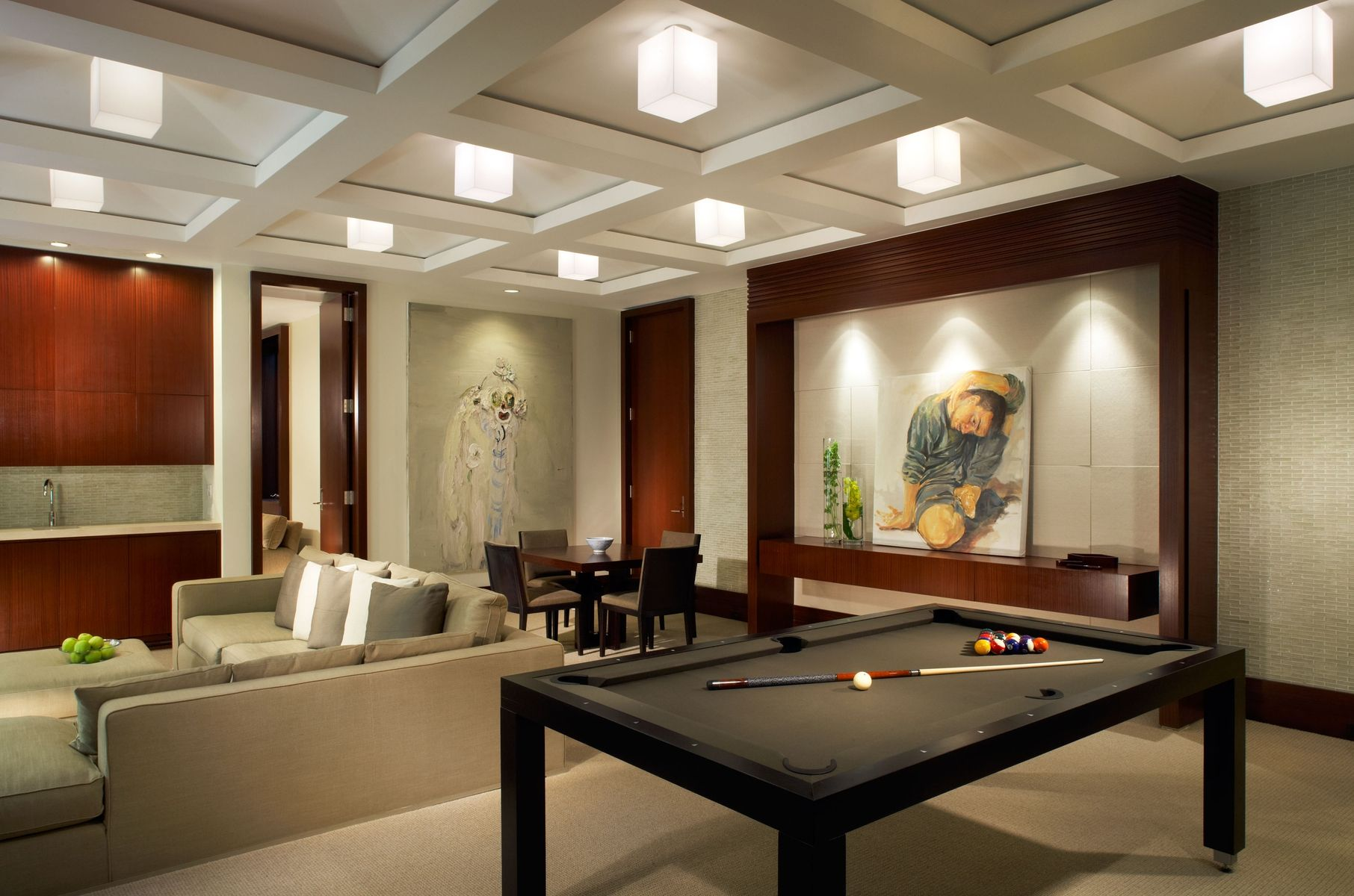 Custom made game room by vogue furniture Design this home game ideas