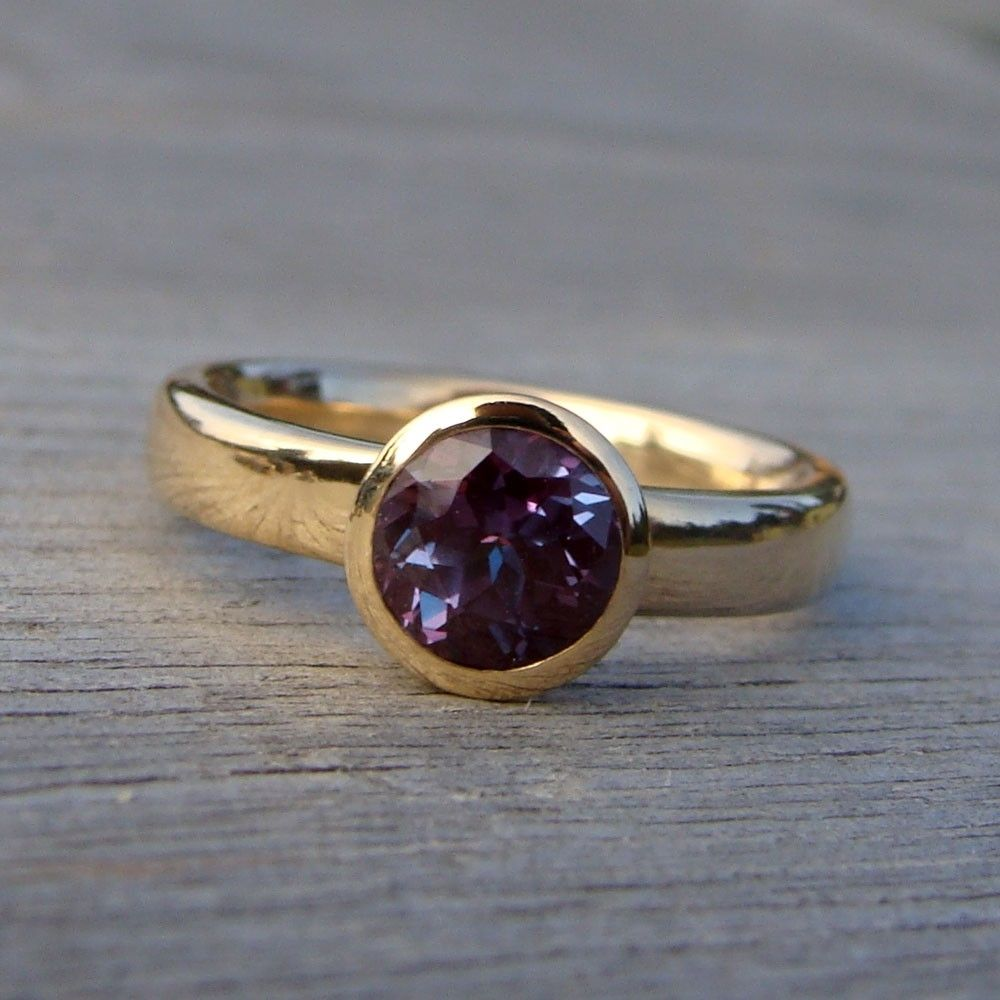 crafted engagement ring and wedding band set color