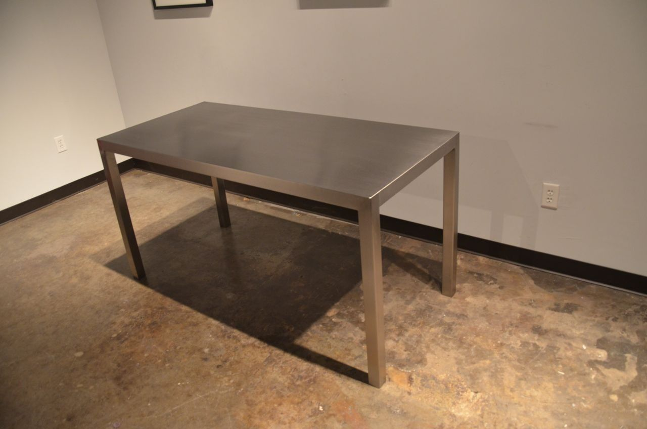 Custom made seamless stainless steel dining table by sarabi studio - Steel kitchen tables ...