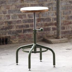 Oak Factory Green Stools