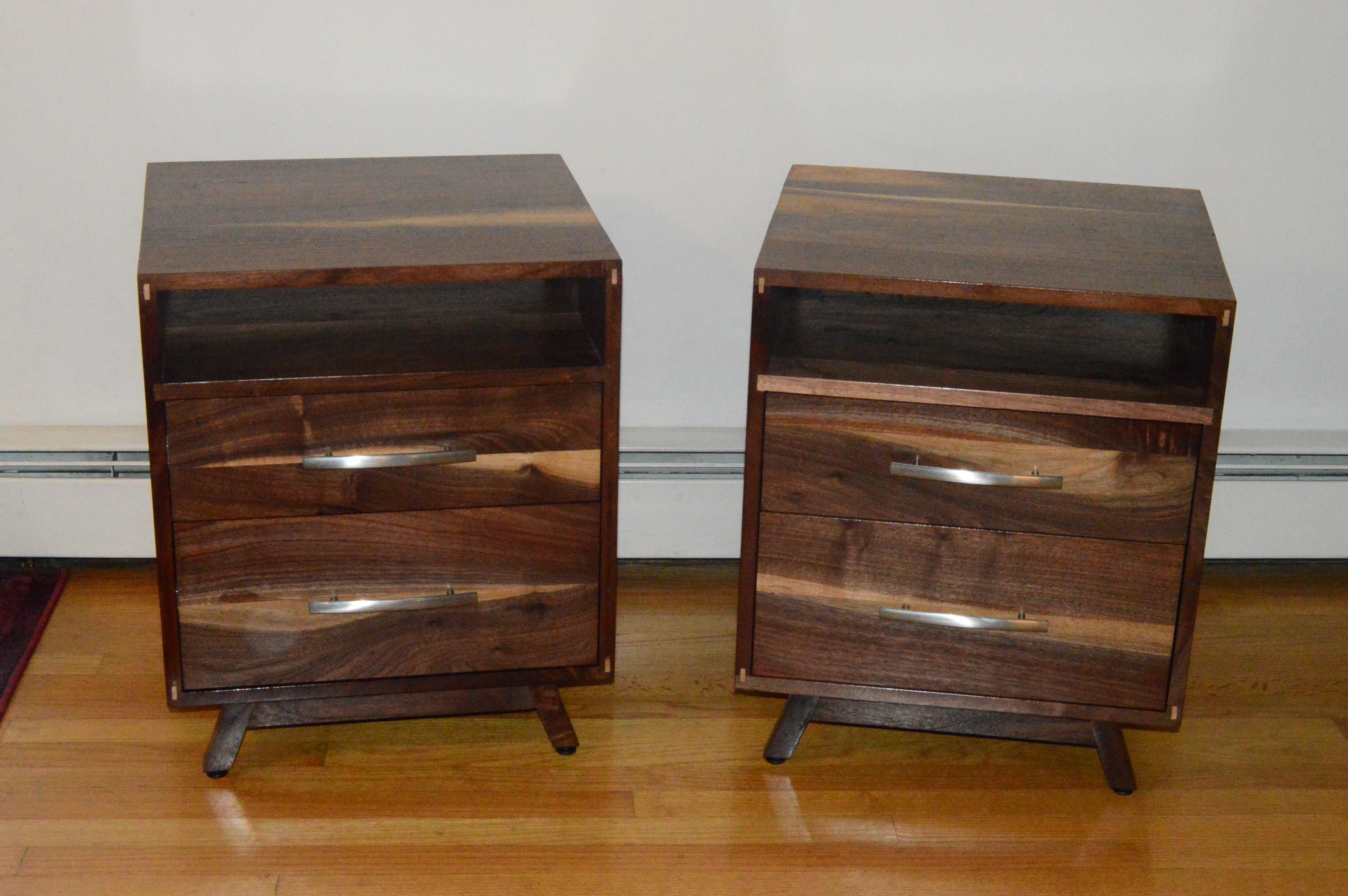 Buy A Custom Made Solid Walnut Danish Modern Nightstand Made To Order From Edelman S Wood