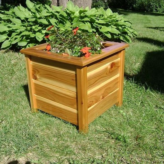 Made To Measure Bespoke Wooden Planters: Cedar Outdoor By JM Wood