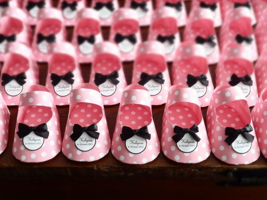 Custom Paper Baby Shoe Favors By Dear Betsy Custommade Com