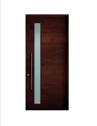 Hand Crafted Contemporary Modern European Style Entry Door
