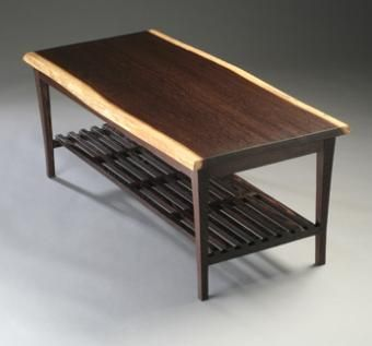 Hand crafted wenge coffee table by forrest 39 s fine furniture Wenge coffee tables
