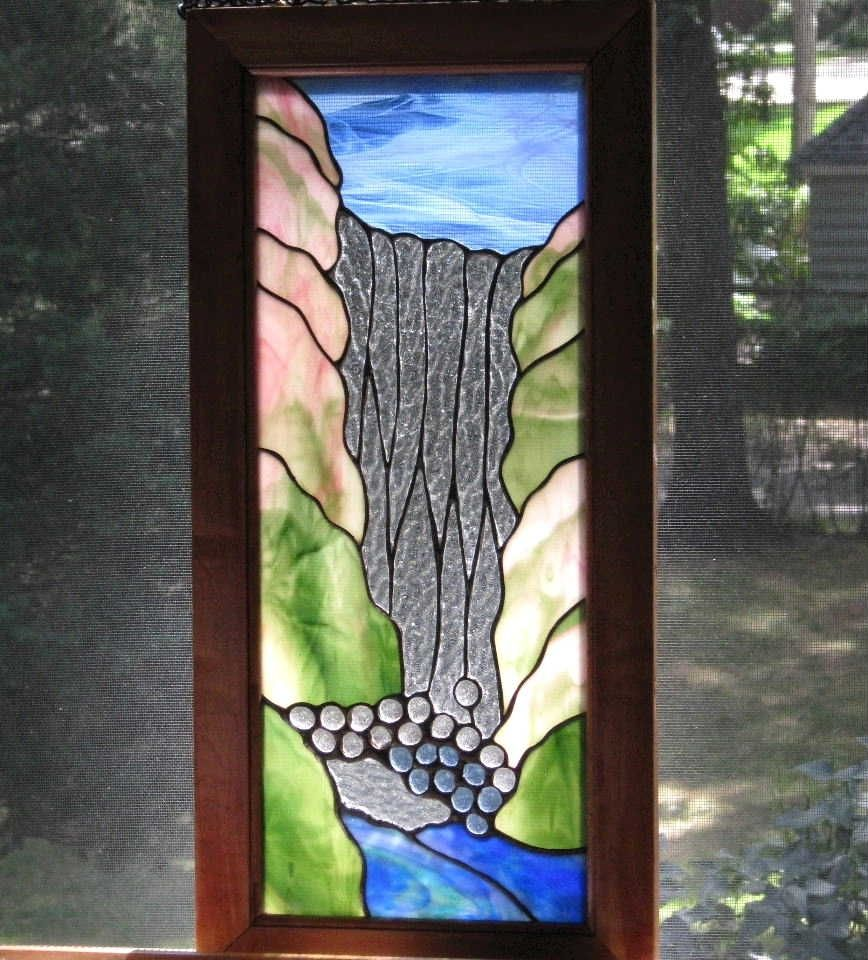 Custom Made Waterfall Stained Glass Window By Windflower
