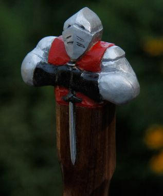 Custom Made Folk Art Walking Sticks - Figures