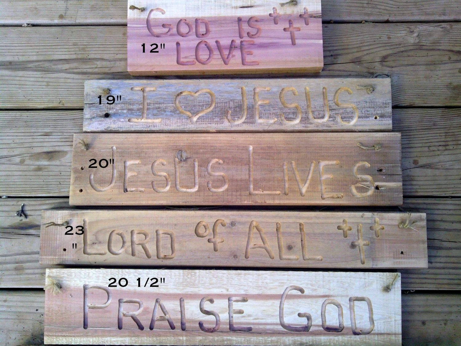 Buy custom made small sized wooden signs with religious engravings