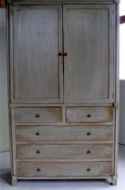 Custom Made Custom Armoire With Rope Molding