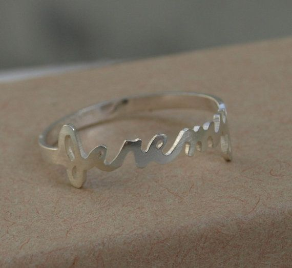 Custom Made Name Rings By Dulces Jewelry Custommade Com