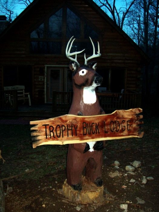 Custom Chainsaw Carving Deer By We Make Totem Poles