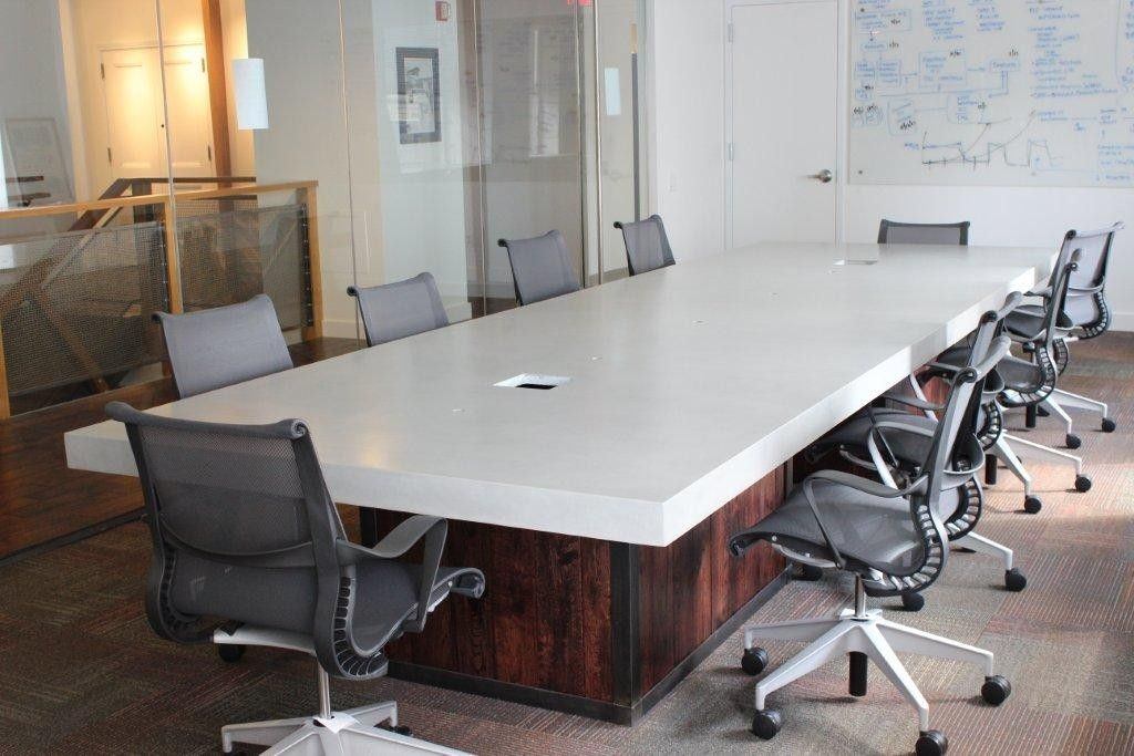 Hand Crafted Conference Room Table By Trueform Concrete