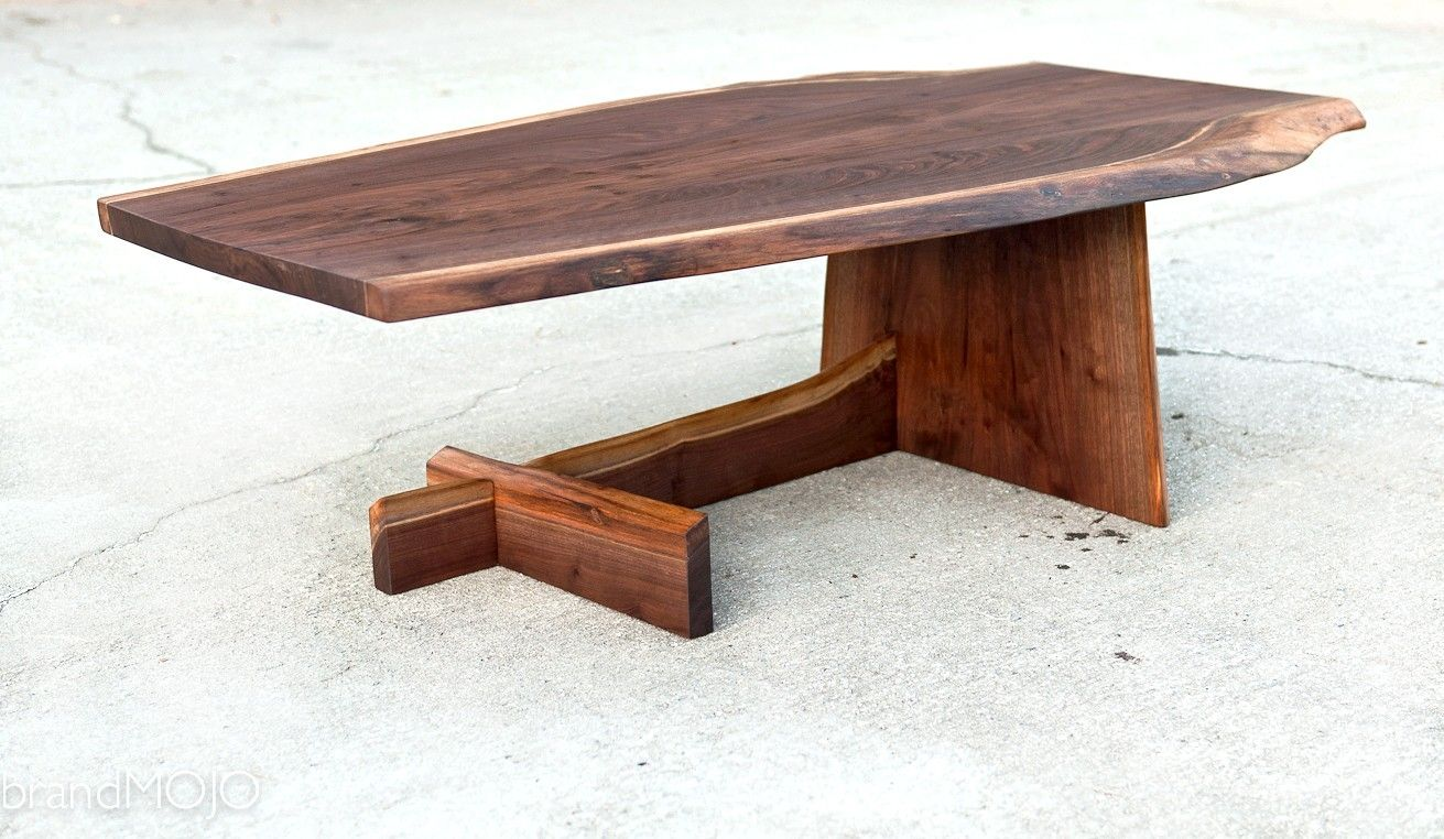 Hand Made Live Edge Cantilever Coffee Table By Brandmojo