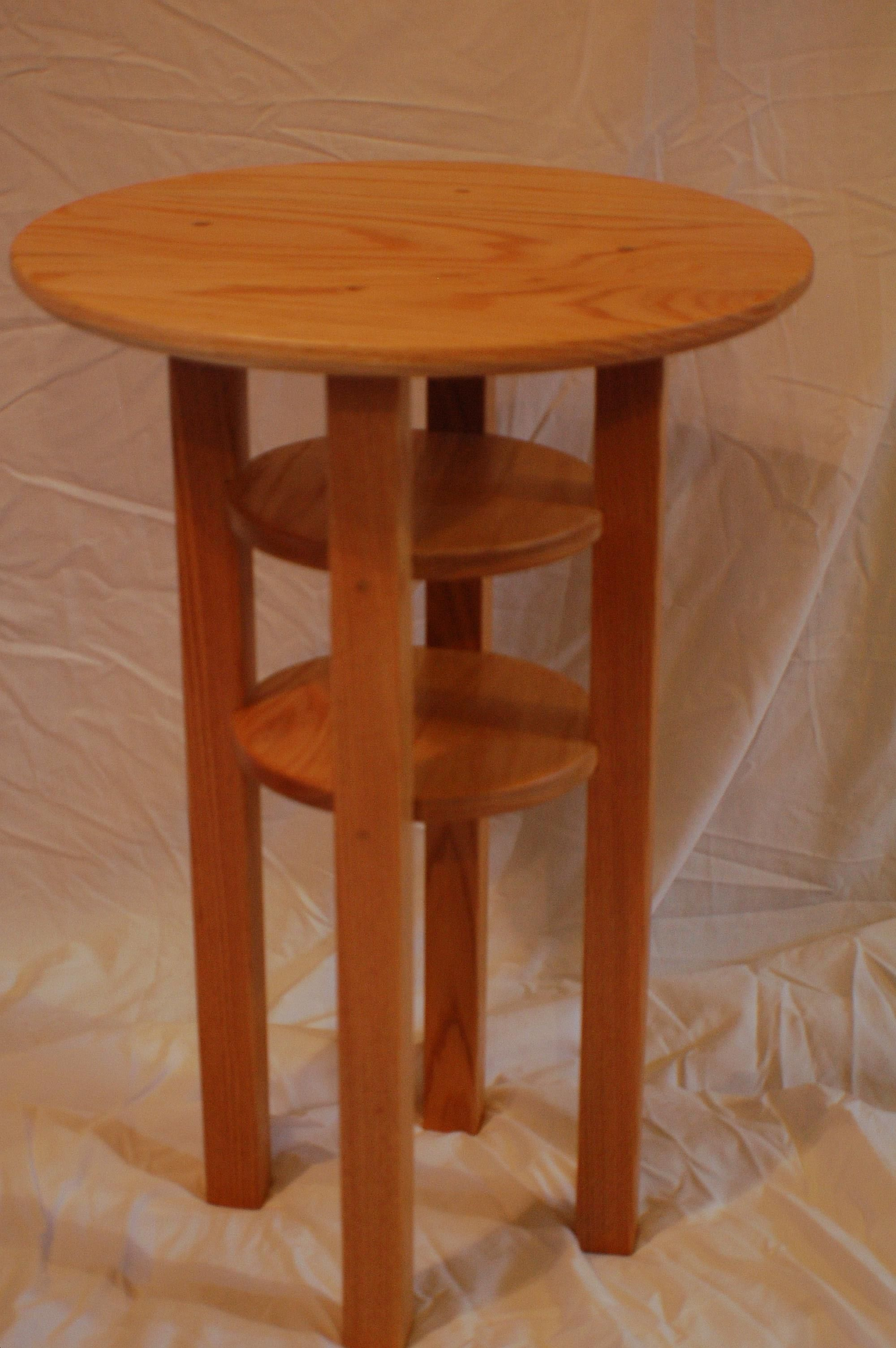 Oak Side Table: Buy A Handmade Round Oak Side Table, Made To Order From
