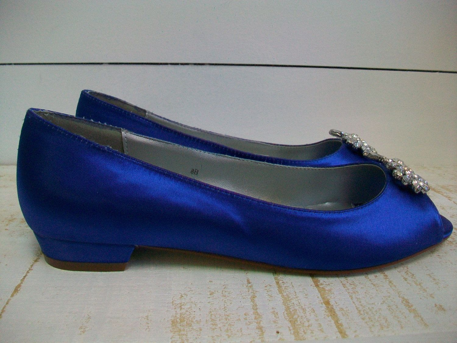 Hand Made Wedding Shoes Sapphire Blue By Parisxox By Arbie Goodfellow