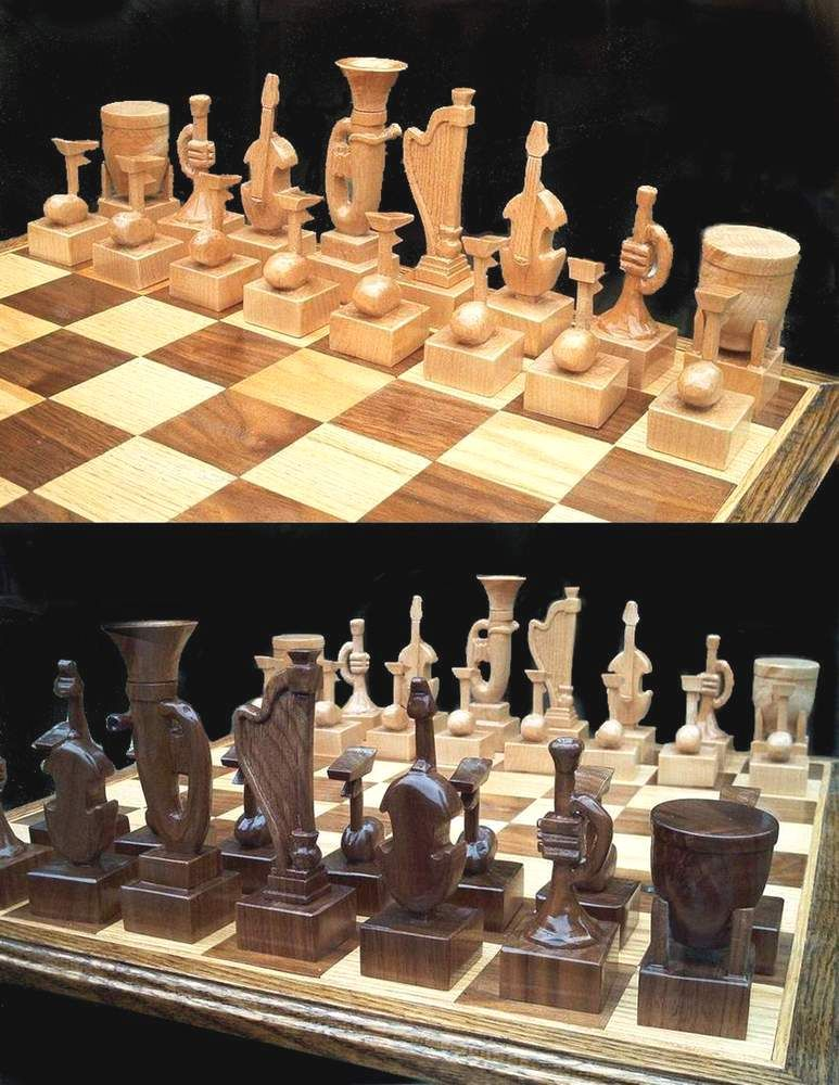Buy A Hand Made Musical Instrument Chess Set By Jim Arnold
