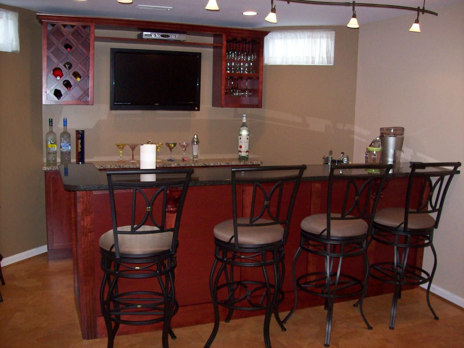 Hand crafted basement bar by sdg home solutions - Designing a basement bar ...