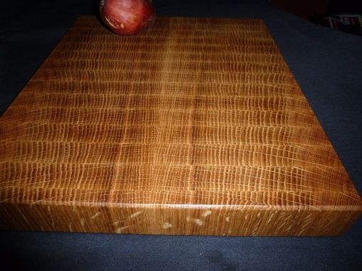 Custom Made Oak End Grain Chopping Board, Butcher Block, Island