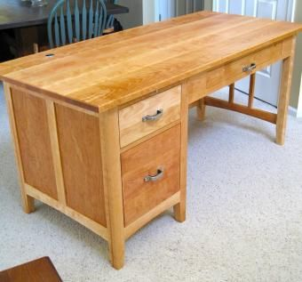 custom office computer desk by custom wood accents