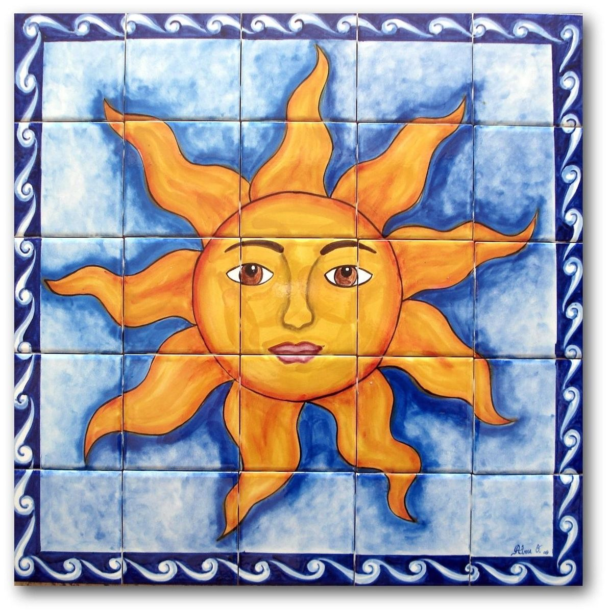 Custom hand painted ceramic tile murals by lomeli tile for Custom tile mural