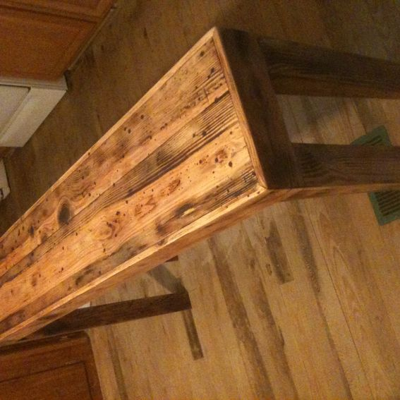Rustic Pine Sofa Table: Hand Made Rustic Pine Distressed Sofa Table By Robert