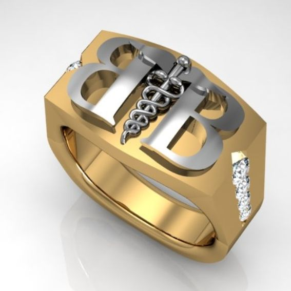 made custom made 18k yellow and white gold signet