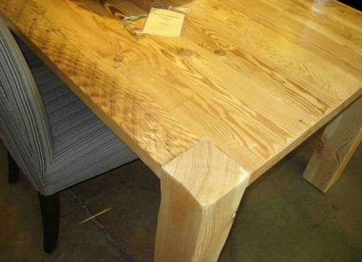 Custom Made Reclaimed Wood Roca Dining Table In A Natural Wood Finish