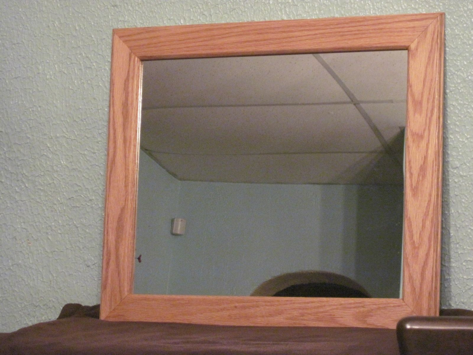 Custom made red oak mirror by pj 39 s custom woodworking for Custom made mirrors
