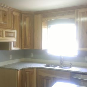 Hand Made Hickory Kitchen Custom Cabinets By Top Quality