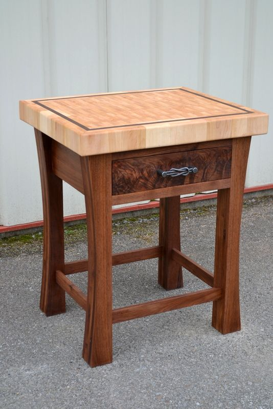 buy a custom made end grain butcher block island made to