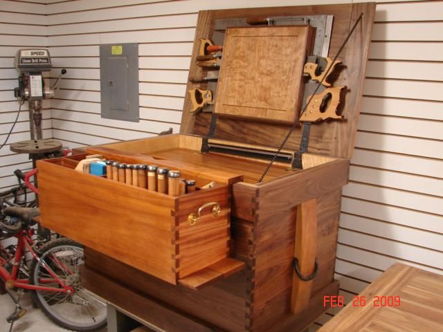 Hand Made Walnut Tool Chest By Codner's Custom Creations