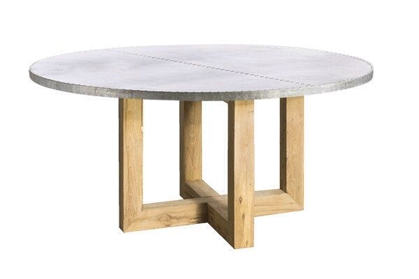 Indira Round Zinc Top Dining Table