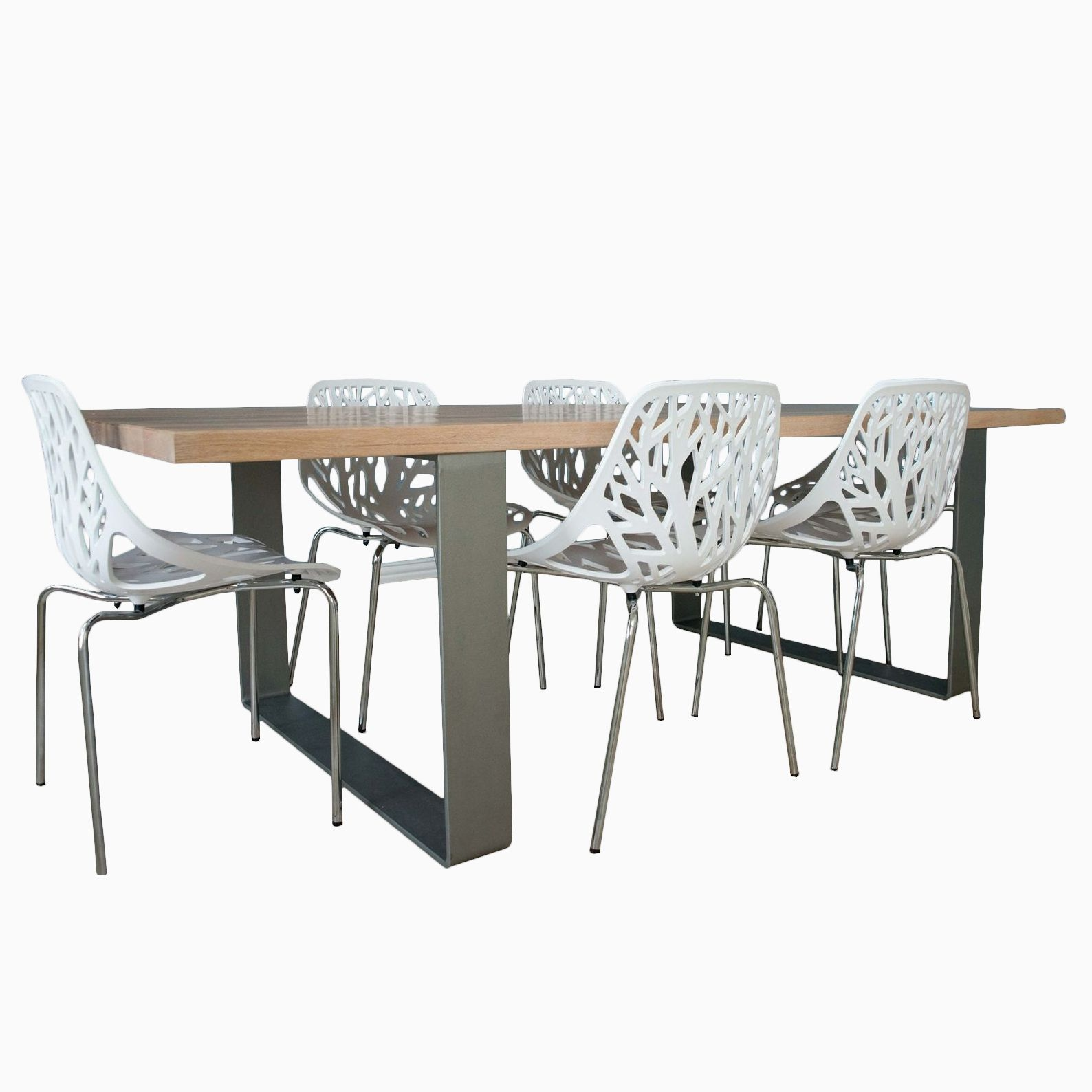 buy handmade oak dining room table with iron legs made to
