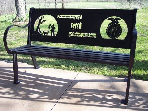 Custom Made Memorial Bench By Hooper Hill Metal