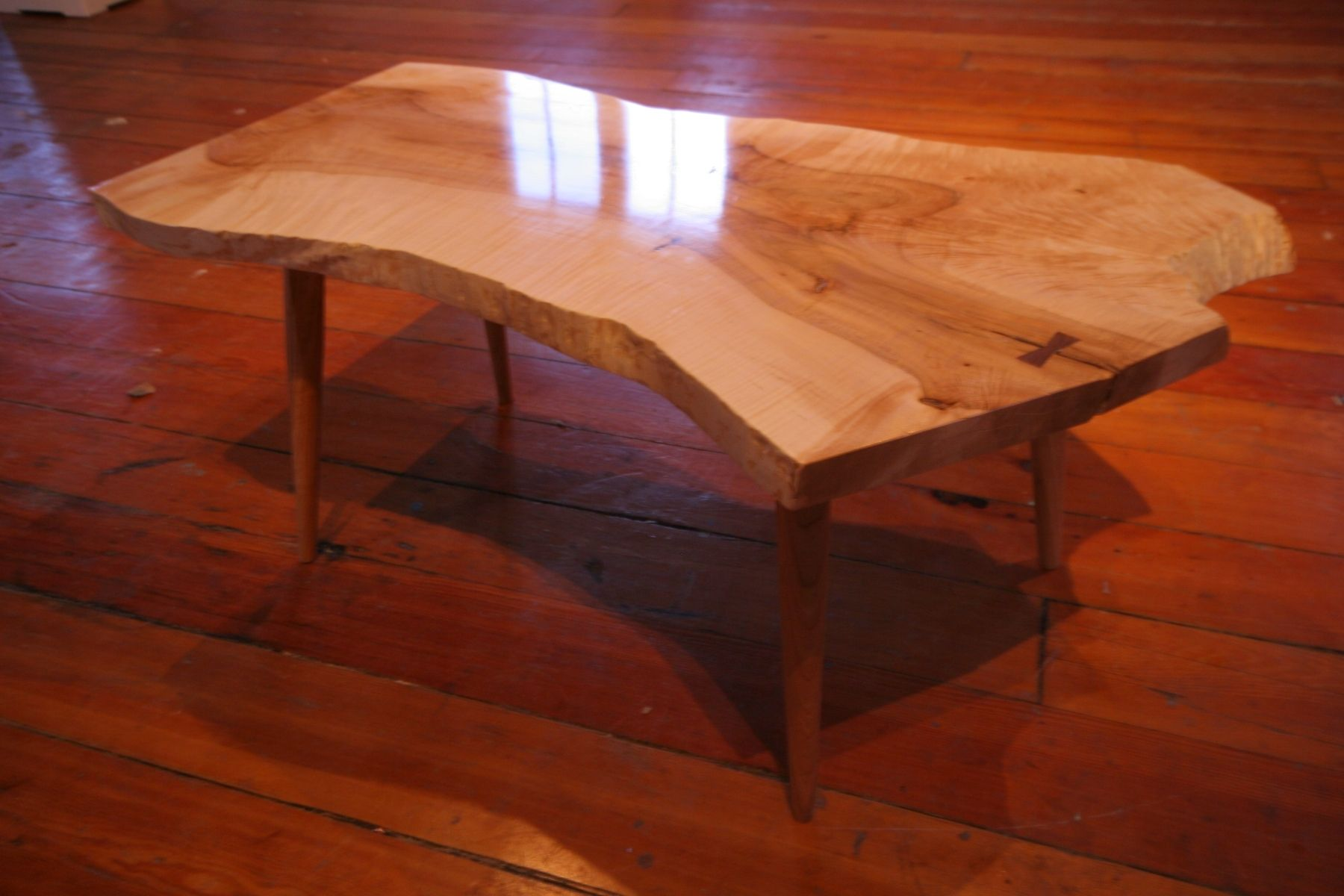 Hand crafted slab coffee tables by dovetail furniture for Dovetail furniture